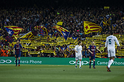 May 6, 2018 - Barcelona, Spain - Fans claiming Freedom for catalan political prisoners during the  La Liga derby football match between FC Barcelona v Real Madrid at Camp Nou Stadium in Spain on May 6 of 2018. (Credit Image: © Xavier Bonilla/NurPhoto via ZUMA Press)