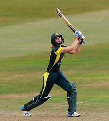 Australia's Ellyse Perry cuts the ball. - Photo mandatory by-line: Harry Trump/JMP - Mobile: 07966 386802 - 21/07/15 - SPORT - CRICKET - Women's Ashes - Royal London ODI - England Women v Australia Women - The County Ground, Taunton, England.