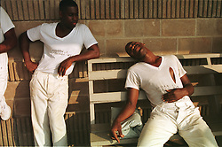 Bound together by misery and leg irons<br /> Alabama, the first state to bring back chain gangs, faces law suits and the threat of riots. Daniel Jeffreys reports, photographs by Jon Levy at Limestone Correctional Facility near Huntsville.<br /> http://www.independent.co.uk/news/bound-together-by-misery-and-leg-irons-1600935.html