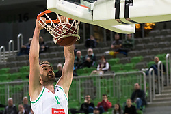 Mirza Begic of Petrol Olimpijaduring 2nd leg basketball match between KK Petrol Olimpija and KK Rogaska in quarter final of  Pokal SPAR 2018/19, on January 14, 2019 in Arena Stozice, Ljubljana, Slovenia. Photo by Matic Ritonja / Sportida