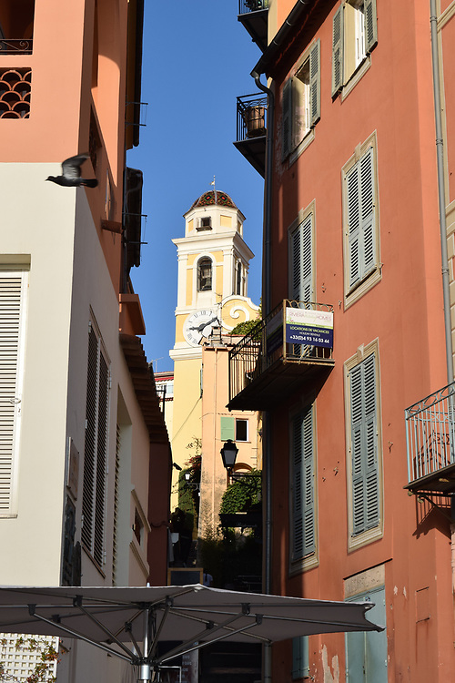 Clock tower in Villefranche