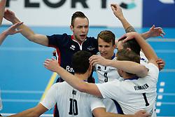 20181103 NED: Eredivisie, Sliedrecht Sport - Abiant Lycurgus: Sliedrecht<br />Ruben van der Leeden (12) of Sliedrecht Sport, Yorick de Groot (5) of Sliedrecht Sport<br />©2018-FotoHoogendoorn.nl / Pim Waslander