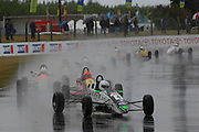 Visibility behind the Formula Ford of Te Puke's Michael Scott is very limited during race 2 at the CRC 200 at Timaru International Motor Raceway on 22 January 2012. The CRC 200 is part of the New Zealand Premier Race Championship Series.