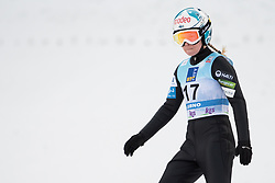 February 8, 2019 - Julia Kykkaenen of Finland on first competition day of the FIS Ski Jumping World Cup Ladies Ljubno on February 8, 2019 in Ljubno, Slovenia. (Credit Image: © Rok Rakun/Pacific Press via ZUMA Wire)