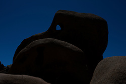 Silhouette of Skull Rock, Joshua Tree National Park, California, United States of America