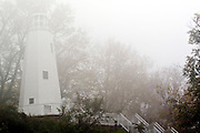 USA Missouri MO, Hannibal a port town on the Mississippi River better known as the childhood town of Samuel Langhorne Clemens AKA Mark Twain. The wooden lighthouse at the top of Cardiff Hill.
