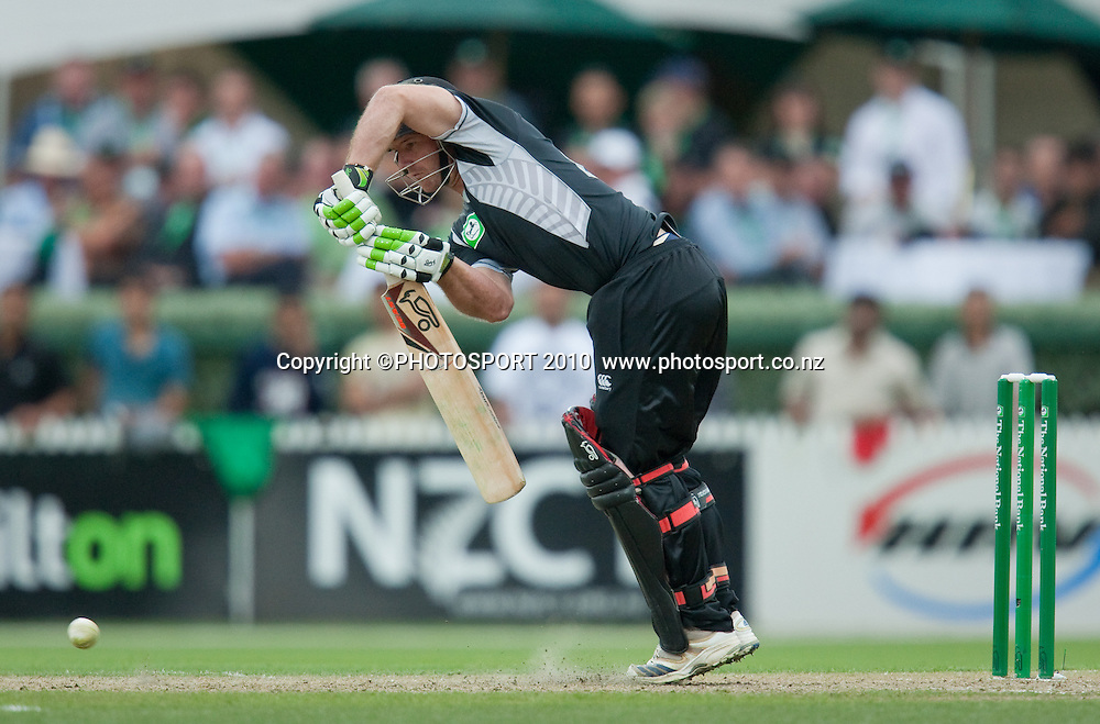 Gareth Hopkins bats during the third one day Chappell Hadlee cricket series match between New Zealand Black Caps and Australia at Seddon Park, Hamilton, New Zealand. Tuesday 9 March 2010. Photo: Stephen Barker/PHOTOSPORT