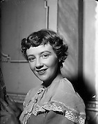 """08/02/1953<br /> 02/08/1953<br /> 08 February 1953<br /> Ann Riordan, Frankfort Park, Dundrum, as she appeared in St. Mary's P.P.U. Dramatic Society's presentation of """"The Imaginary Invalid""""."""