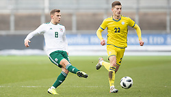 NEWPORT, WALES - Tuesday, November 19, 2019: Wales' Scott Smith during the UEFA Under-19 Championship Qualifying Group 5 match between Kosovo and Wales at Rodney Parade. (Pic by Laura Malkin/Propaganda)