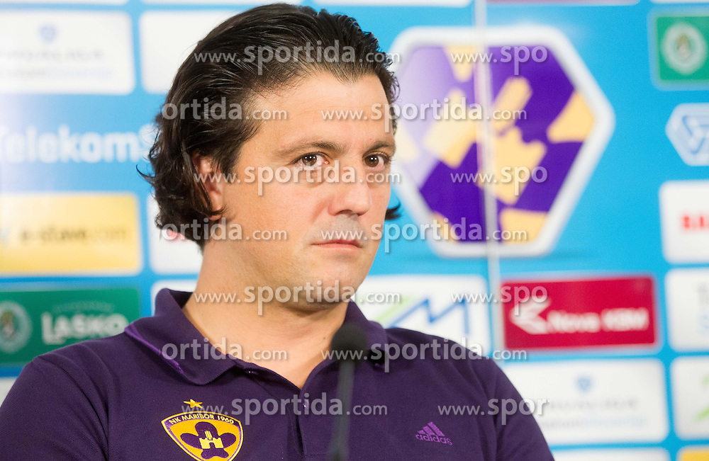 Zlatko Zahovic, sports director of NK Maribor when new coach of NK Maribor A. Cacic of Croatia signed a contract with best Slovenian football club on June 5, 2013 in Ljudski vet, Maribor, Slovenia. (Photo By Vid Ponikvar / Sportida)