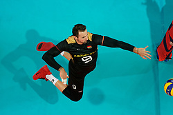 23-09-2019 NED: EC Volleyball 2019 Poland - Germany, Apeldoorn<br /> 1/4 final EC Volleyball - Poland win 3-0 / György Grozer #9 of Germany