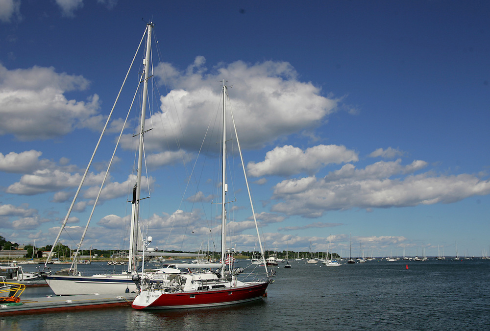 Vinalhaven, Maine 2007: .Boats in the harbor, Rockland, ME