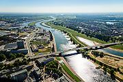 Nederland, Gelderland, Arnhem, 30-09-2015; John Frostbrug over de Nederrijn bij Arnhem. Foto richting IJsselkop.<br /> <br /> John Frost Bridge crossing the Lower Rhine at Arnhem.<br /> luchtfoto (toeslag op standard tarieven);<br /> aerial photo (additional fee required);<br /> copyright foto/photo Siebe Swart