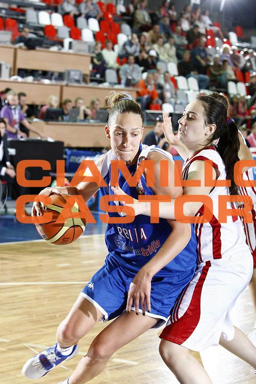 DESCRIZIONE : Valmiera Latvia Lettonia Eurobasket Women 2009 Serbia Turchia Serbia Turkey<br /> GIOCATORE : Ines Ajanovic<br /> SQUADRA : Serbia<br /> EVENTO : Eurobasket Women 2009 Campionati Europei Donne 2009 <br /> GARA :  Serbia Turchia Serbia Turkey<br /> DATA : 09/06/2009 <br /> CATEGORIA : palleggio<br /> SPORT : Pallacanestro <br /> AUTORE : Agenzia Ciamillo-Castoria/E.Castoria<br /> Galleria : Eurobasket Women 2009 <br /> Fotonotizia : Valmiera Latvia Lettonia Eurobasket Women 2009 Serbia Turchia Serbia Turkey<br /> Predefinita :