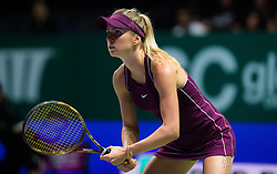 October 23, 2018 - Kallang, SINGAPORE - Elina Svitolina of the Ukraine in action during her second match at the 2018 WTA Finals tennis tournament (Credit Image: © AFP7 via ZUMA Wire)