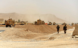 Aug. 2, 2017  - Kandahar, Afghanistan - US soldiers walk at the site of a Taliban suicide attack. A Taliban suicide bomber rammed a vehicle filled with explosives into a convoy of foreign forces in Afghanistan's restive southern province of Kandahar, causing casualties, officials said. (Credit Image: © Sanaullah Seiam/Xinhua via ZUMA Wire)
