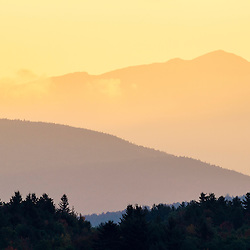 Mount Adams as seen from the Rocks Estate in Bethlehem, New Hampshire. White Mountains. Dawn.