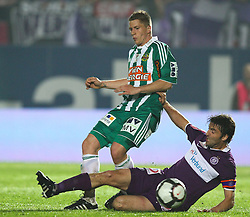 05.05.2010, Horr Stadion, Wien, AUT, 1. FBL, FK Austria Wien vs SK Rapid Wien, im Bild Faul von Joachim Standfest, FK Austria Wien an Christian Thonhofer, SK Rapid Wien , EXPA Pictures © 2010, PhotoCredit: EXPA/ T. Haumer / SPORTIDA PHOTO AGENCY