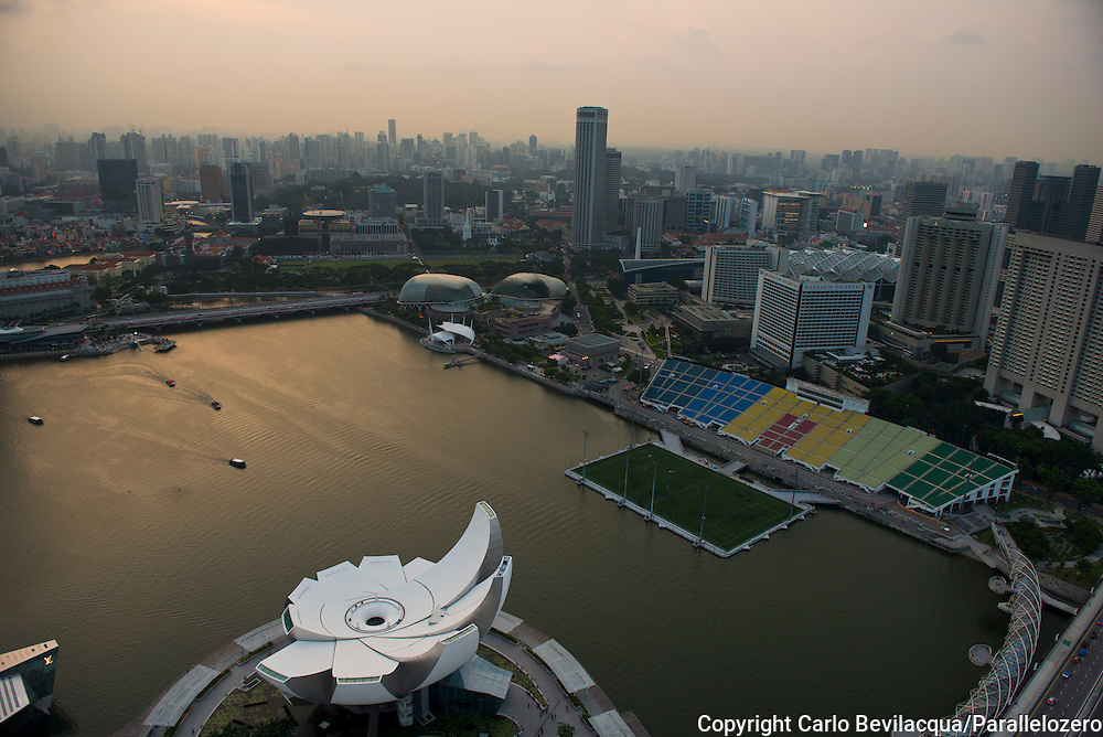 Singapore - Marina Bay Sands Hotel and the Art Science Museum.