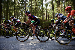 Kasia Niewiadoma (POL) in the woods during Ladies Tour of Norway 2019 - Stage 4, a 154 km road race from Svinesund to Halden, Norway on August 25, 2019. Photo by Sean Robinson/velofocus.com