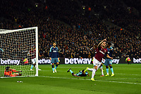 Football - 2018 / 2019 EFL Carabao (League) Cup - Fourth Round: West Ham United vs. Tottenham Hotspur<br /> <br /> West Ham United's Lucas Perez pulls a goal back to make the score 2-1, at the London Stadium<br /> <br /> COLORSPORT/ASHLEY WESTERN
