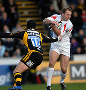 Wycombe, Great Britain. Falcons Ollie PHILLIPS,, during the Guinness Premiership Game London Wasps vs Newcastle Falcon at Adams Park, England, on Sunday 25/11/2007   [Mandatory Credit. Peter Spurrier/Intersport Images]