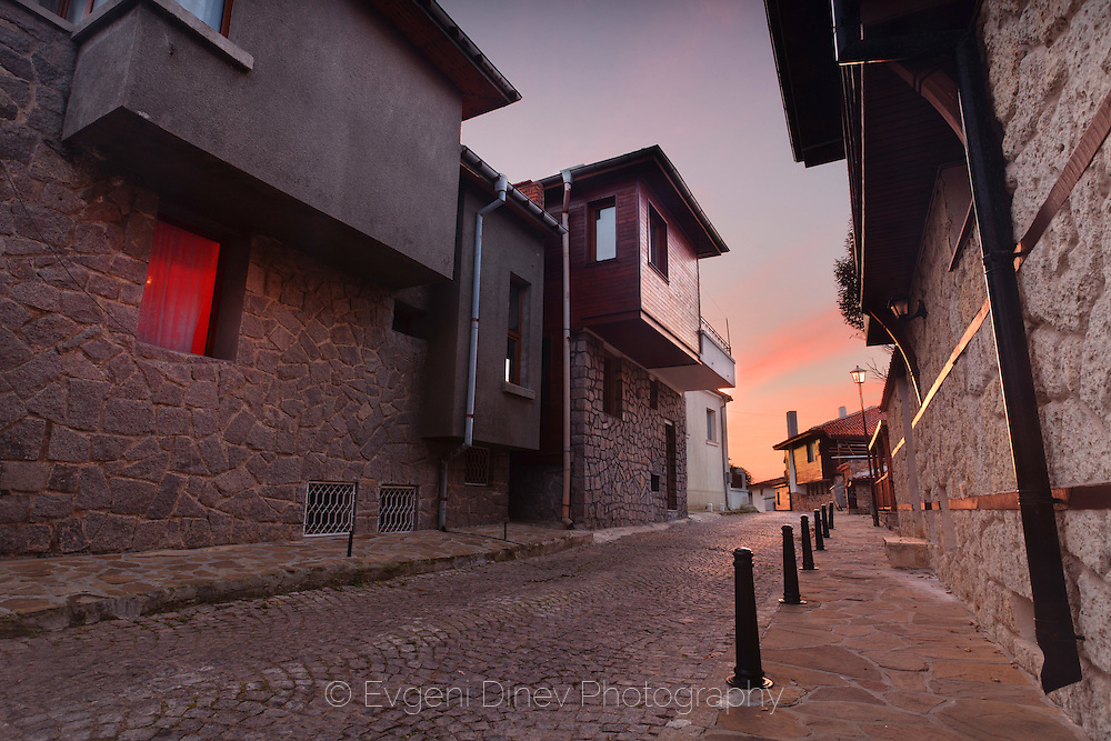 Street of a smal town on the Black Sea.