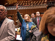 09 JANUARY 2012 - PHOENIX, AZ:     Carol Salsman (CQ) from Phoenix, prays in the state house during the Prayer Walk sponsored by the Center for Arizona Policy at the Arizona State Capitol in Phoenix Monday. The Arizona legislature started its 2012 session and Gov. Jan Brewer delivered her State of the State Monday, Jan 9.               PHOTO BY JACK KURTZ