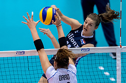 20-05-2016 JAP: OKT Italie - Nederland, Tokio<br /> De Nederlandse volleybalsters hebben een klinkende 3-0 overwinning geboekt op Itali&euml;, dat bij het OKT in Japan nog ongeslagen was. Het met veel zelfvertrouwen spelende Oranje zegevierde met 25-21, 25-21 en 25-14 / Anne Buijs #11