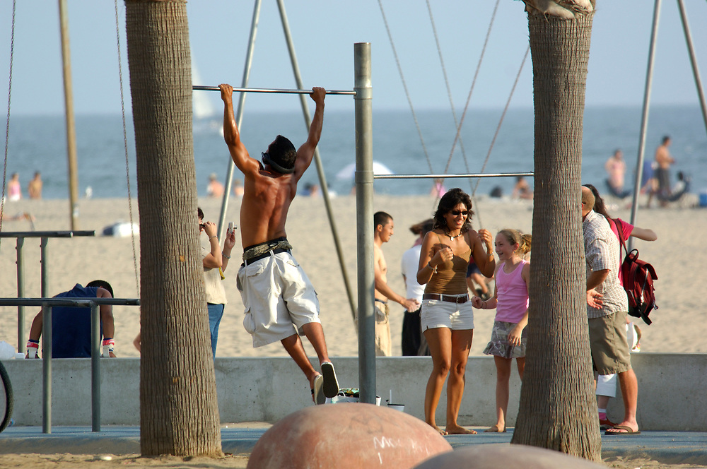 Work out, Santa Monica Beach, Santa Monica, Los Angeles, California, United States of America