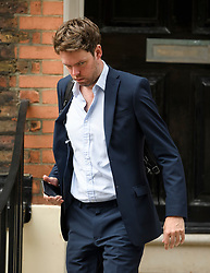 © Licensed to London News Pictures. 22/07/2019. London, UK. LIAM BOOTH SMITH reported to be Boris Johnson's Deputy Chief of Staff, arrives at Boris Johnson's campaign headquarters in Westminster, London. This week the Conservative Party will select a new leader and Prime Minister, following Theresa May's announcement that she will step down. Photo credit: Ben Cawthra/LNP