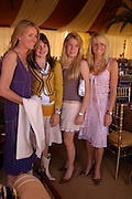 Viscountess Cowdray, Catriona Pearson, Eliza Pearson and Emily Pearson. Veuve Clicquot Gold Cup Final at Cowdray Park. Midhurst. 17 July 2005. ONE TIME USE ONLY - DO NOT ARCHIVE  © Copyright Photograph by Dafydd Jones 66 Stockwell Park Rd. London SW9 0DA Tel 020 7733 0108 www.dafjones.com