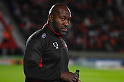 Darren Moore of Doncaster Rovers (Manager) during the EFL Sky Bet League 1 match between Doncaster Rovers and Blackpool at the Keepmoat Stadium, Doncaster, England on 17 September 2019.