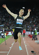 Benjamin Gfohler (SUI) places ninth in the long jump at 25-3 1/4 (7.70m) during the Weltklasse Zurich in an IAAF Diamond League meeting at Letzigrund Stadium in Zurich, Switzerland on Thursday, August 30, 2018.(Jiro Mochizuki/Image of Sport)