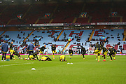 Albion players warm up during the EFL Sky Bet Championship match between Aston Villa and Burton Albion at Villa Park, Birmingham, England on 3 February 2018. Picture by John Potts.
