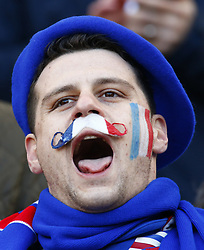 February 10, 2019 - London, England, United Kingdom - France support singing the France Anthem.during the Guiness 6 Nations Rugby match between England and France at Twickenham  Stadium on February 10th, 2019 in Twickenham, London, England. (Credit Image: © Action Foto Sport/NurPhoto via ZUMA Press)
