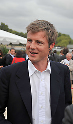 ZAC GOLDSMITH at the unveiling of 'Isis' a sculpture by Simon Gudgeon hosted by the Royal Parks Foundation and the Halcyon Gallery by the banks of The Serpentine, Hyde Park, London on 7th September 2009.