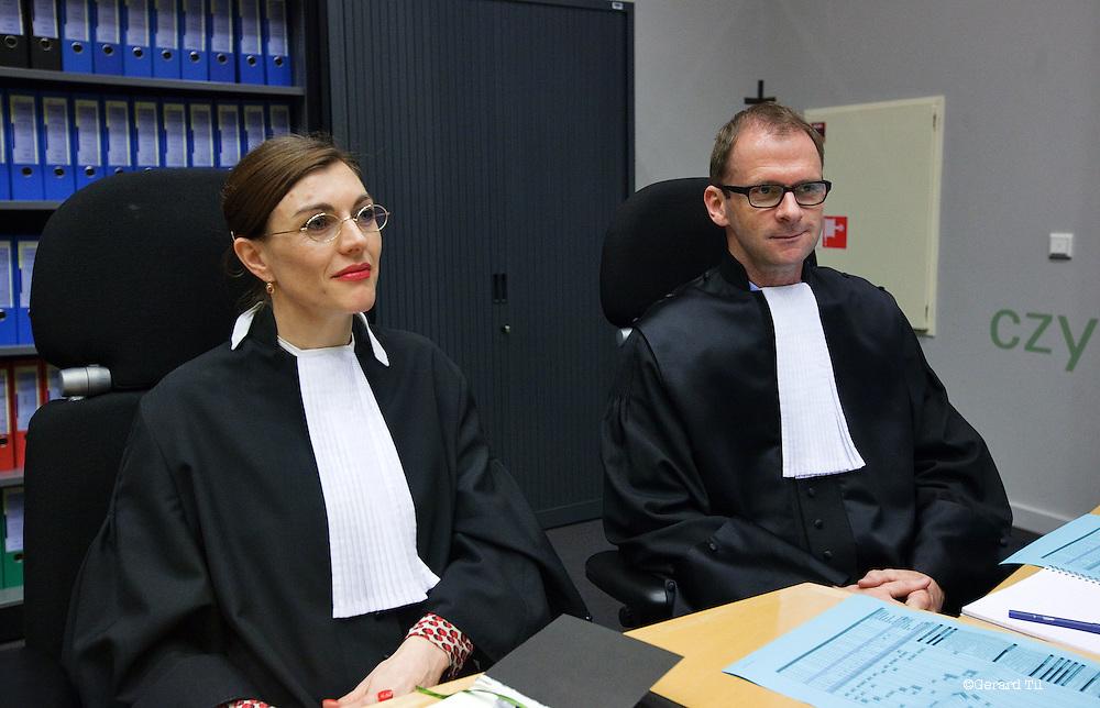 Nederland, Haarlem,22-01-2012 Vonnis in Klimop Vastgoed fraudezaak. Officieren van justitie Danielle Goudriaan (L),  Thomas Bosch FOTO: Gerard Til