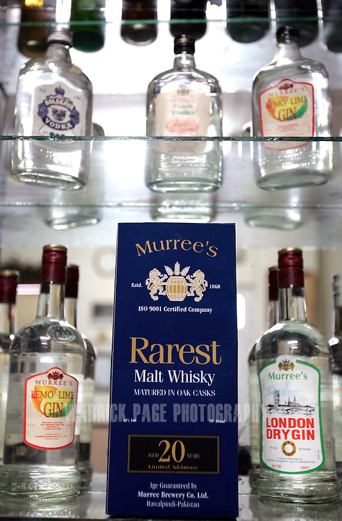 A prototype packaging of the Murree Brewery's first 20 year-old Malt Whiskey, Wednesday, February 14, in Rawalpindi, Pakistan. The brewery boasts the first 20 year-old malt whiskey in the Muslim world, due for release in mid-2007. Established more than a century ago under British Raj, Murree Brewery also is Pakistan's oldest company and one of two breweries in a country under prohibition. Muslims have been banned from drinking alcohol since it was outlawed in 1977, but Christians and Hindus may still buy alcohol. The brewery hopes to export the exclusive whiskey to Europe and the Middle East. (Photo by Warrick Page)