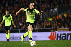 February 21, 2019 - Valencia, Spain - Scott Brown of Celtic FC during round of 32 Second leg of UEFA Europa league  match between Valencia CF vs Celtic at Mestalla Stadium on February 21, 2019. (Photo by Jose Miguel Fernandez/NurPhoto) (Credit Image: © Jose Miguel Fernandez/NurPhoto via ZUMA Press)