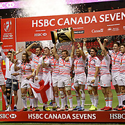 England was unstoppable in its 19-7 Cup Final victory over South Africa at the Canada Sevens, Day 2, BC Place, Vancouver, Canada.  Photo by Barry Markowitz, 3/12/17