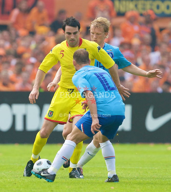 ROTTERDAM, THE NETHERLANDS - Sunday, June 1, 2008: Wales' Craig Morgan in action against the Netherlands during the international friendly match at the de Kuip Stadium. (Photo by David Rawcliffe/Propaganda)