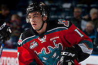 KELOWNA, CANADA - DECEMBER 7: Rodney Southam #17 of the Kelowna Rockets warms up against the Seattle Thunderbirds on December 7, 2016 at Prospera Place in Kelowna, British Columbia, Canada.  (Photo by Marissa Baecker/Shoot the Breeze)  *** Local Caption ***