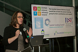 Pictured: Scotland's Chief Scientific Adviser Professor Sheila Rowan <br /> <br /> Science Minister Richard Lochhead, Scottish Science Advisory Council Chair Professor Paul Boyle and Scotland's Chief Scientific Adviser Professor Sheila Rowan spoke at the official launch of a major new report on Scottish science.  The report examines the scientific landscape in Scotland between 2007 and 2016 and compared how the Scottish science and research sector has performed against other similar sized countries.  A number of scientific research projects from research institutions across Scotland will also exhibited at the event.<br /> <br /> <br /> Ger Harley | EEm 23 January 2019
