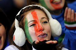 Italian fans during the 2010 FIFA World Cup South Africa Group F match between Italy and Paraguay at Green Point Stadium on June 14, 2010 in Cape Town, South Africa.