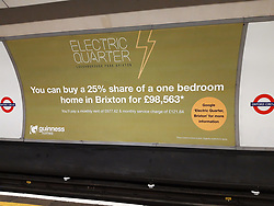 UK ENGLAND LONDON 18MAY19 - Billboard advertising poster on the London Underground illustrating a property finance model.<br /> <br /> jre/Photo by Jiri Rezac<br /> <br /> © Jiri Rezac 2019