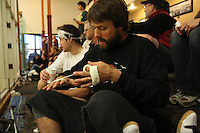 COEUR D'ALENE, ID OCTOBER 16: Former NFL star Jake Plummer plays handball in Coeur d'Alene, ID on October 16, 2010. (Photo by Jed Jacobsohn)