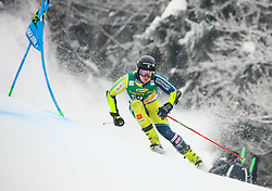Kristoffer Jakobsen of Sweden competes during 1st run of Men's GiantSlalom race of FIS Alpine Ski World Cup 57th Vitranc Cup 2018, on March 3, 2018 in Kranjska Gora, Slovenia. Photo by Ziga Zupan / Sportida