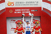 Podium Fabio Jakobsen (NED - QuickStep - Floors) white leader jersey during the Tour of Guangxi 2018, Stage 3, Nanning - Nanning (125,4 km) on October 18, 2018 in Nanning, China - photo Luca Bettini / BettiniPhoto / ProSportsImages / DPPI