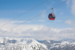 North America, United States, Washington, Gondola at Crystal Mountain